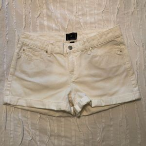 Gap white denim jean shorts